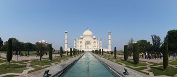 Taj Mahal Symmetry Panorama photo libre de droits