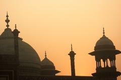 taj mahal tôt du soleil de matin images stock