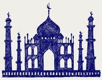 Taj-Mahal tempelsilhouet Royalty-vrije Stock Fotografie