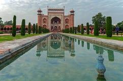 The Taj Mahal Temple, Agra, India. AGRA, INDIA - AUGUST 15, 2017: The Taj Mahal Temple, representative of Indian culture and spirituality Stock Photo