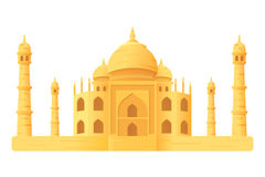 Taj Mahal temple illustration icon isloated Royalty Free Stock Photos