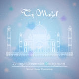 Taj Mahal Temple Watercolor Background Stockbilder