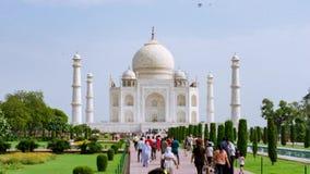 Taj Mahal-timelapse, Agra Indien stock footage