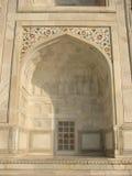 Taj Mahal tomb detail stock photo