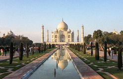 Taj Mahal Tomb en Agra, la India Imagenes de archivo