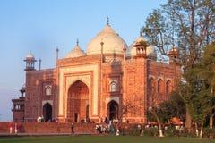 Taj Mahal Tomb en Agra, la India Imagen de archivo libre de regalías