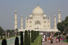 The Taj Mahal, and tourists Royalty Free Stock Images