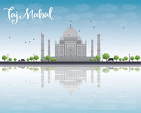 Taj Mahal with Tree and cow Stock Images