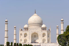 Taj Mahal. Ultimately from Arabic, crown of palaces, also the Taj is a white marble mausoleum located in Agra, Uttar Pradesh, India Royalty Free Stock Images