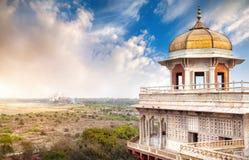Taj Mahal- und Agra-Fort stockbild