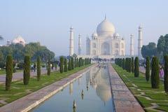 Taj Mahal und seine Reflexion Stockbilder