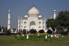 Taj Mahal - UNESCO-Welterbmitte stockfoto