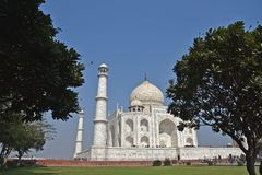 Taj Mahal - UNESCO-Welterbmitte stockbild