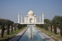 Taj Mahal - UNESCO-Welterbmitte lizenzfreie stockfotografie
