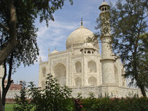 Taj Mahal vanuit een invalshoek Royalty-vrije Stock Foto