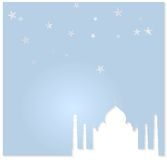Taj Mahal vector background Royalty Free Stock Photos