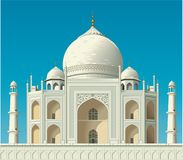 Taj Mahal Vector Illustration royalty-vrije illustratie