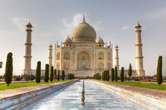 Taj Mahal view Agra in India Stock Image