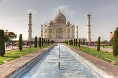 Taj Mahal view Agra in India Stock Images