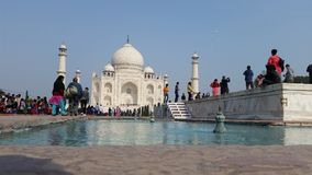 Taj Mahal view Royalty Free Stock Image