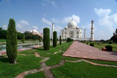 Taj Mahal. A view on taj mahal mausoleum in agra, india Royalty Free Stock Photography