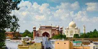 Taj Mahal view from roofs Royalty Free Stock Photography