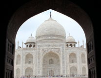 Taj Mahal. A View of the side of the Taj Mahal, Agra Stock Photos