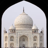 Taj Mahal viewed through the entrance archway, Agr Royalty Free Stock Images