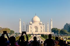 Taj Mahal vom Haupteingang, Agra, Uttar Pradesh, Indien lizenzfreie stockfotografie