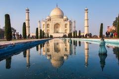 Taj Mahal w Agra mie?cie, Uttar Pradesh stan, India obrazy royalty free