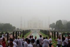 Taj mahal w mgle Zdjęcie Royalty Free