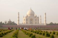 Taj Mahal w wschodu słońca świetle Agra fort w Agra Obraz Royalty Free