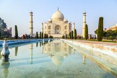 Taj Mahal w wschodu słońca świetle, Agra, India Zdjęcia Stock