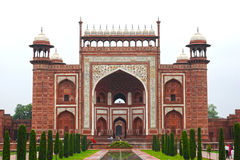 Taj Mahal wejście Obraz Stock