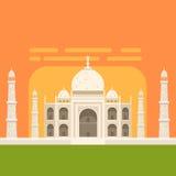 Taj Mahal White Burial Monument, symbole touristique traditionnel célèbre de culture et d'architecture indiennes Images libres de droits