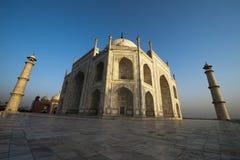 Taj Mahal Wide Angle View, viaje a Agra, la India Foto de archivo libre de regalías