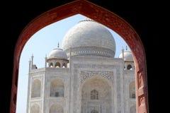 Taj Mahal, widok od meczetu. Zdjęcie Stock