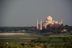 Taj Mahal widzieć od Agra fortu Agra, Uttar Pradesh indu Fotografia Stock