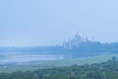 Taj Mahal Yamuna i rzeka Obraz Stock