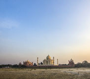Taj mahal from yamuna river Royalty Free Stock Photography