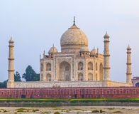 Taj mahal from yamuna river Royalty Free Stock Photos