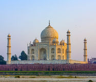 Taj mahal from yamuna river Royalty Free Stock Image