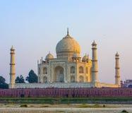 Taj mahal from yamuna river royalty free stock image