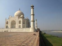 Taj Mahal on the Yamuna river bank Stock Image