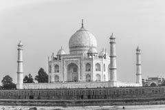 Taj mahal from yamuna river stock photo