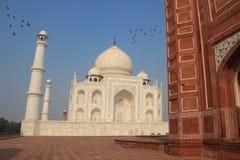 Taj Mahal z mauzoleumem, Agra, Uttar Pradesh, India zdjęcie stock