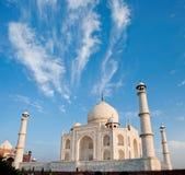 Taj Mahal in zonsopganglicht, Agra, India Royalty-vrije Stock Foto