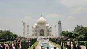 Taj Mehal agra La casa bianca nessuna pubblica il monumento soleggiato della natura di viaggio del cielo della radura del tempo d Fotografia Stock Libera da Diritti