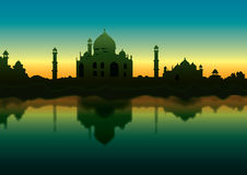 Taj in the Morning vector illustration