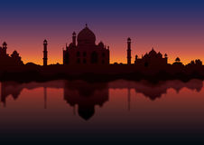 Taj at Night Royalty Free Stock Images